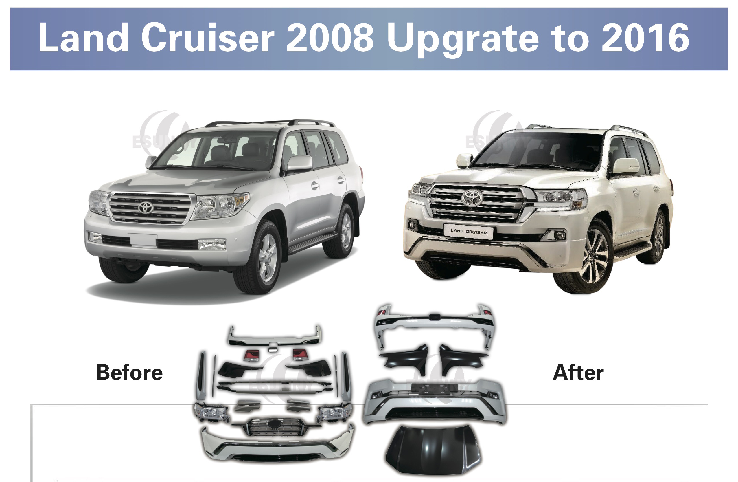 2008-2015 Land Cruiser Upgrate To 2016
