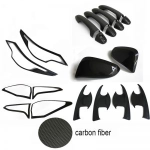 ABS Exterior Carbon fiber Cover Trim Kits For Toyota Fortuner 2016-2017