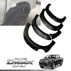 ISUZU D-MAX 2012-2015 FENDER FLARES WHEEL ARCH WITH NUTS