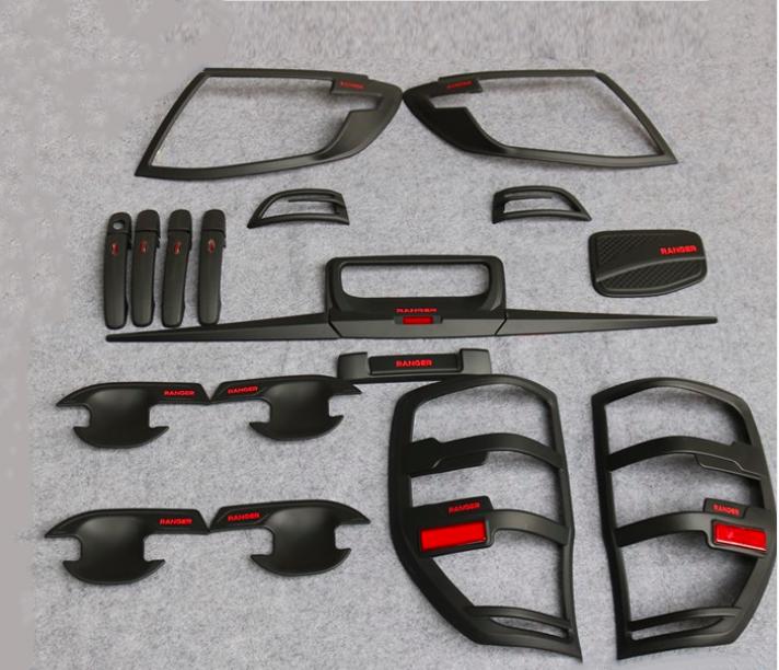 Ranger 2012 Matte Black kits With Red