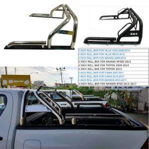3 Inch Universal Stainless Steel Roll Bar Hillux Vigo ,Revo ,D-Max , Triton , Navara, Ranger