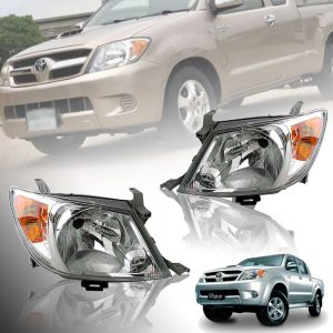 Toyota Hilux Vigo SR5 2005-2009 Clear Lens Head Light Front Lamp