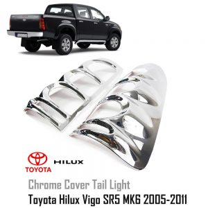 Toyota Hilux SR5 MK6 Vigo 2005-2011 Chrome  Tail Light Lamp Cover