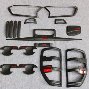 Ford Ranger T7 Matte Black Full Set Kits with Red