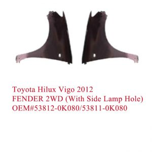Toyota Hilux Vigo 2012 FENDER 2WD With Side Lamp HOLE