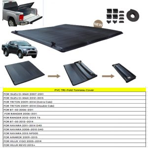 PVC TRI-Fold Tonneau Cover For 4X4 Pick Up