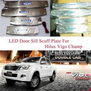Toyota Hilux Vigo Champ 2012-2014 LED Door Sill Scuff Plate