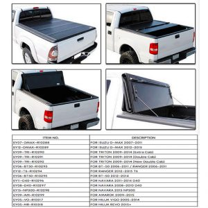 Hard Tri Fold Tonneau Cover For 4X4 Pick Up