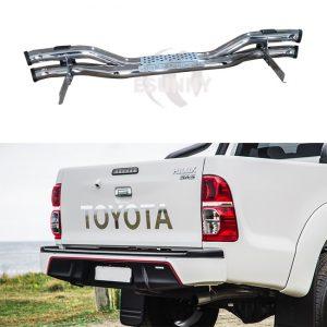 Toyota Hilux Vigo 2012 Stainless Steel Rear Bumper Rear Guard