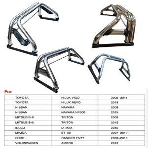 Universal Stainless Steel Roll Bar For Hillux Vigo ,Revo ,D-Max , Triton , Navara, Ranger