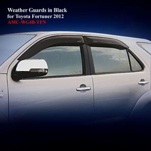 Weather Guards for Double Cab inTransparent Black