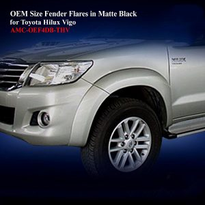 OEM Size Fender Flares for Toyota Hilux Vigo 2012 in Matte Black