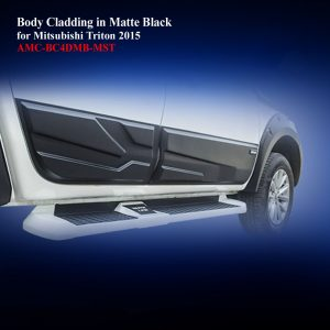 Body Cladding for Mitsubishi Triton 2015-18 in Matte Black