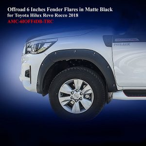 Offroad 6 Inches Fender Flares for Toyota Hilux Rocco 2018 in Matte Black