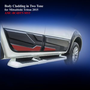 Body Cladding for Mitsubishi Triton 2015-18 in Two Tone