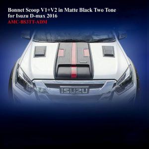 Bonnet Scoop V1+V2 in Matte Black Two Tone