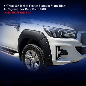 Offroad 8.5 Inches Fender Flares for Toyota Hilux Rocco 2018 in Matte Black