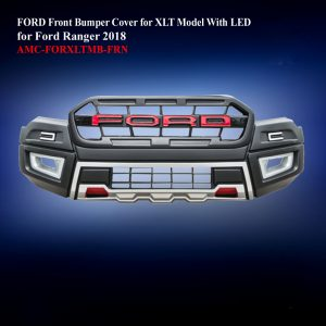 FORD Front Bumper Cover for XLT Model With LED in Matte Black
