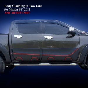 Body Cladding for Mazda BT50 2012-19 in Matte Black