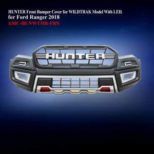 HUNTER Front Bumper Cover for WILDTRAK Model With LED in Matte Black