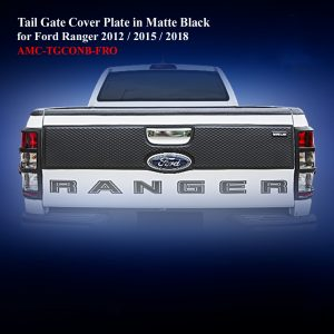 Tail Gate Cover Plate in Matte Black