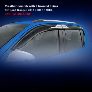 Weather Guards for Double Cab With Chromed Trim