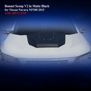 Bonnet Scoop V2 in Matte Black