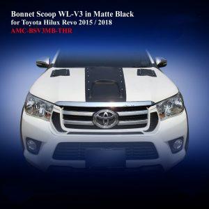 Bonnet Scoop WL-V3 in Matte Black