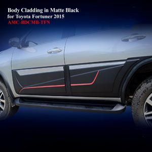 Body Cladding for Toyota Fotuner 2015-19in Matte Black With Two Tone