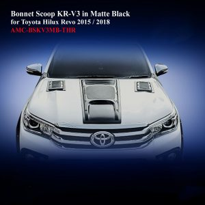 Bonnet Scoop KR-V3 in Matte Black