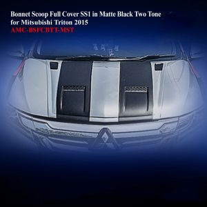 Bonnet Scoop Full Cover SS1 in Matte Black Two Tone