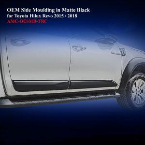 OEM Side Moulding for Toyota Hilux Rocco 2018 in Matte Black