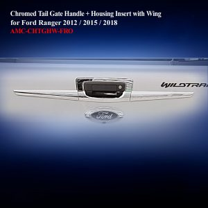 Chromed Tail Gate Handle + Housing Insert With Wing