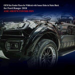 OEM Size Fender Flares for Wildtrak With Censors in Matte Black
