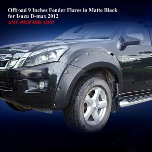 Offroad 9 Inches Fender Flares for Isuzu DMAX 2012 in Matte Black