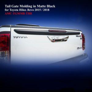 Tail Gate Molding in Matte Black