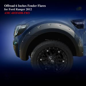 Offroad 6 Inches Fender Flares for Double Cab in Matte Black