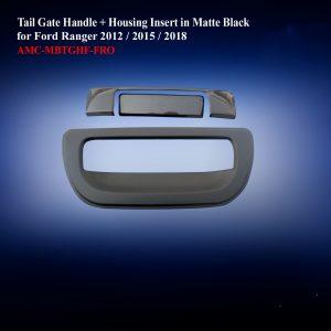 Tail Gate Handle + Housing Insert Full Type in Matte Black