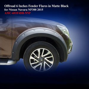 Offroad 6 Inches Fender Flares for Nissan Navara NP300 2015 in Matte Black