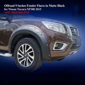 Offroad 9 Inches Fender Flares for Nissan Navara NP300 2015 in Matte Black