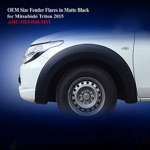 OEM Size Fender Flares for Mitsubishi Triton 2015 in Matte Black