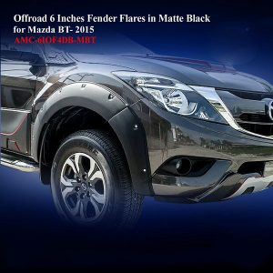 Offroad 6 Inches Fender Flares for Mazda BT50 Pro 2016 in Matte Black