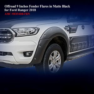 Offroad 9 Inches Fender Flares for Double Cab in Matte Black