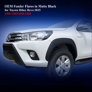 OEM Size Fender Flares for Toyota Hilux Revo 2015 in Matte Black