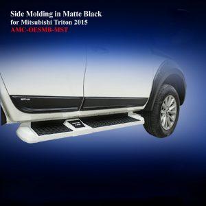 Side Molding for Mitsubishi Triton 2015 in Matte Black