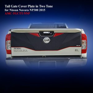 Tail Gate Cover Plate in Two Tone for Nissan Navara NP300 2015