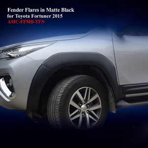 6 Inches Fender Flares (8 Pieces) for Toyota Fortuner 2015 in Matte Black