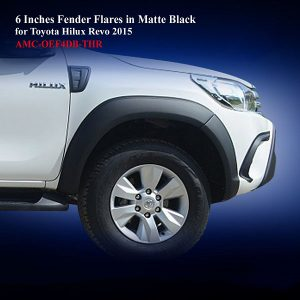 6 Inches Fender Flares for Toyota Hilux Revo 2015 in Matte Black