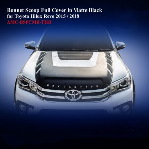 Bonnet Scoop Full Cover in Matte BlackTwo Tone