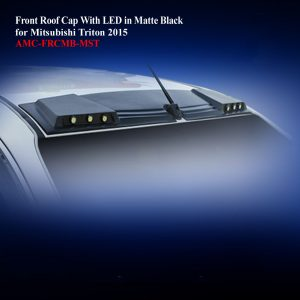 Front Roof Cap With LED in Matte Black